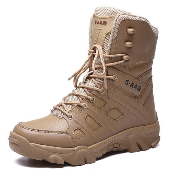 Kaaum Leather Waterproof Desert Combat Ankle Boots