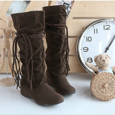 2018 Fashion Autumn Women Tassel Casual Boots