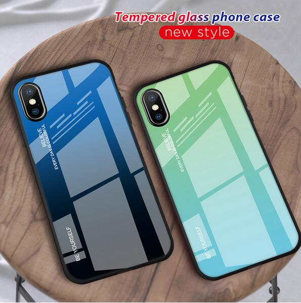 Phone Accessories - 2019 Luxury Aluminum + Tempered Glass Case for iPhone 7 8 Plus / X XS XS Max