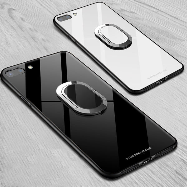 Fashion Magnetic Finger Ring Kickstand Protection Shockproof Case For iPhone XS XR XS Max 8 8plus + SCREEN PROTECTOR