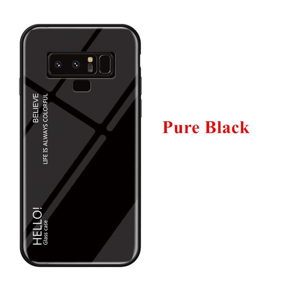 Gradient Color Tempered Glass Luxury Case For Samsung Galaxy Note 9