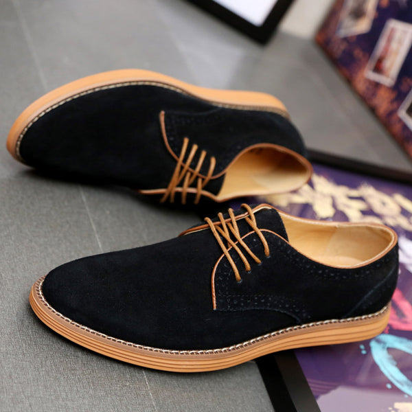 Men's Shoes - Fashion Of New Leather Shoes With Round Head