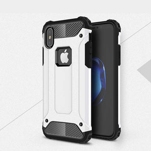 Phone Case - Luxury 2 In 1 Strong Armor Hard Rugged Impact Anti-drop Hybrid Shockproof Phone Case For iPhone X/XS/XR/XS Max