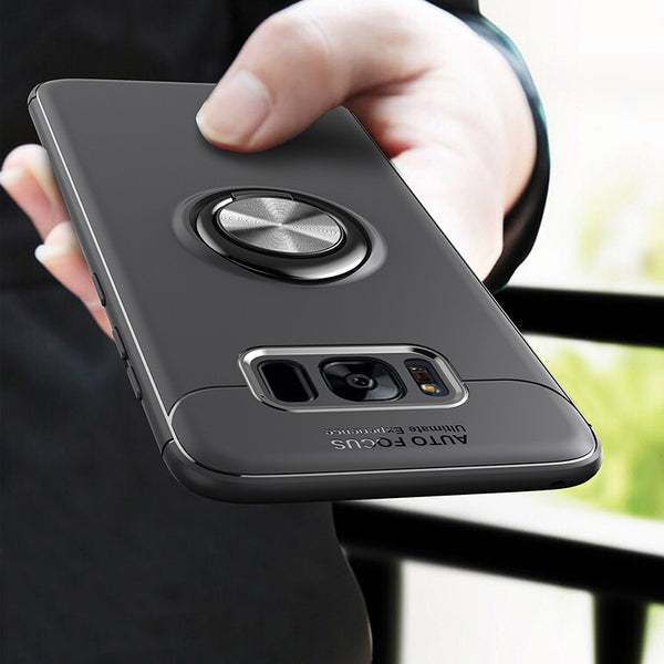 Phone Accessories - Car Holder Stand Magnetic Bracket Finger Ring TPU Case For Samsung S9 Note 8 S8 Plus