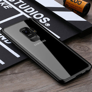 Phone Case - Luxury Ultra Thin Transparent Soft Silicone TPU Acrylic Protective Phone Case For Samsung Galaxy Note 9/8 S9/S8 Plus