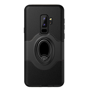 Phone Case - Luxury Heavy Duty Protection Ring Bracket Holder Phone Case For Samsung Galaxy S9/S9 Plus