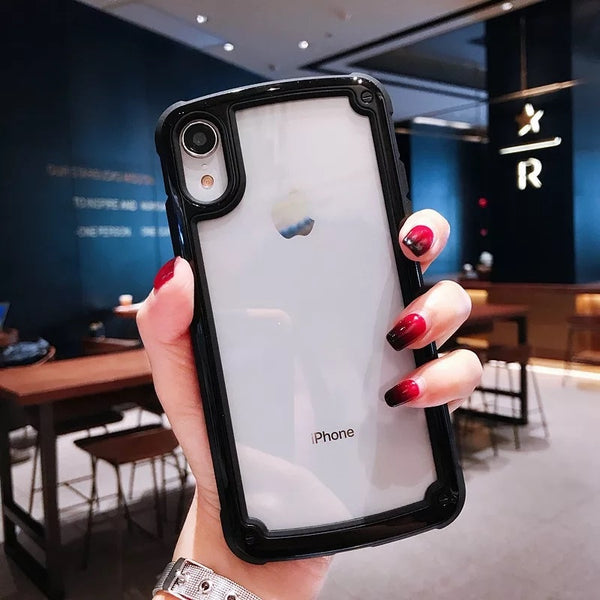 Phone Case - Luxury Heavy Duty Protection Transparent Colorful Bumper Armor Shockproof Phone Case For iPhone X/XS/XR/XS Max