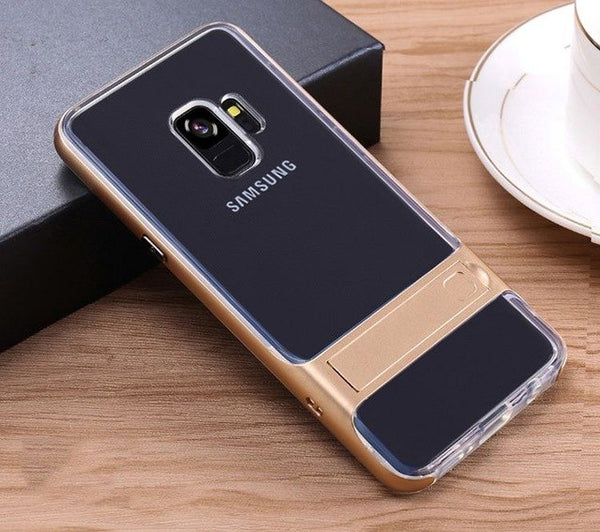 Phone Cases - Fashion Hard PC+Transparent TPU Cases For Samsung Galaxy S9/8 with Stand