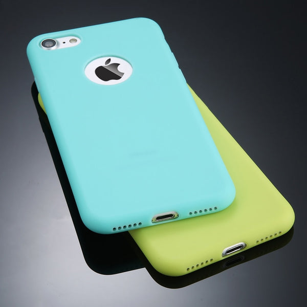 Candy Color Protection Silicone Case For iPhone