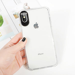 Phone Case - Luxury Ultra Thin Clear Soft TPU Silicone Rubber Protective Phone Case For iPhone XS/XR/XS Max 8/7 Plus