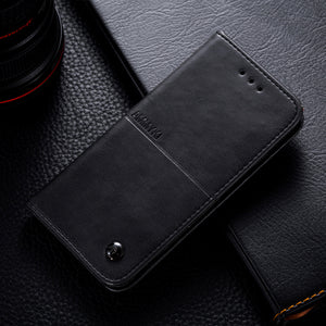 Flip PU Leather Wallet Case For Samsung