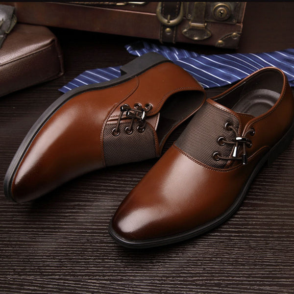 fc5c24b2a 2019 Men Fashion Business Dress Formal Bullock Wedding Lace up Pointed toe  Shoes