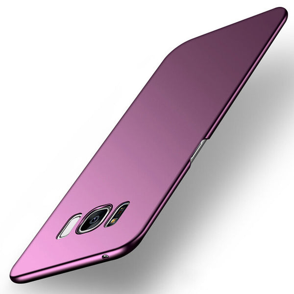 Luxury Purple Matte Phone Case For Samsung Galaxy S8 S9 Note 8 S7