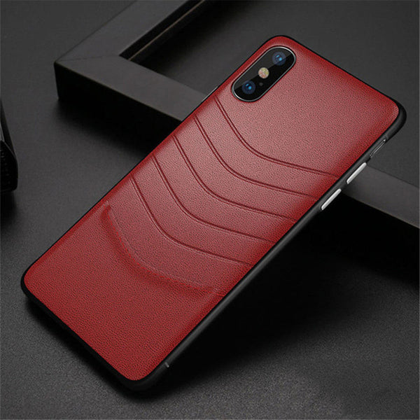 huge selection of c36b2 2207d Phone Case - Luxury Vintage Ultra Thin PU Leather Protective Phone Case For  iPhone XS/XR/XS Max 8/7 Plus