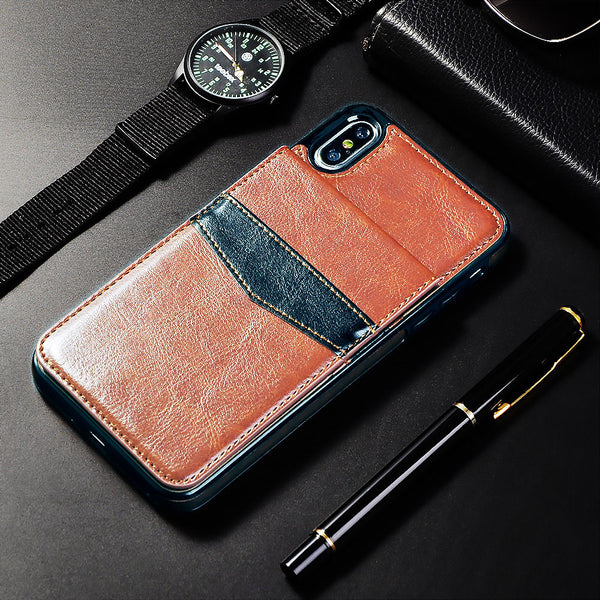 Card Holder Leather Iphone Case