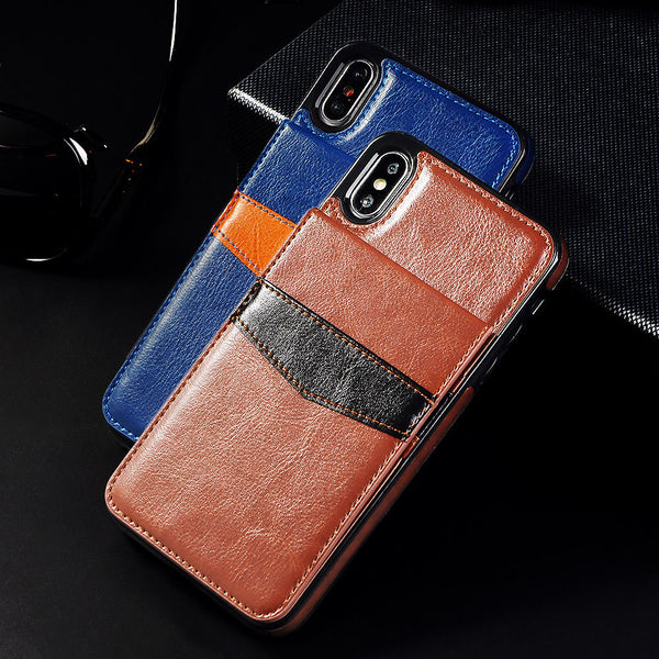 new style ebc43 b56c2 Phone Case - Vertical Flip Card Holder Leather Phone Case For iPhone X XR  XS MAX 8 7 6S 6/Plus