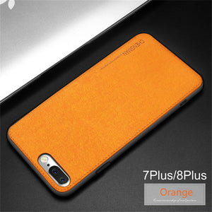 Business Fabric Cloth Soft Protect Case For iPhone