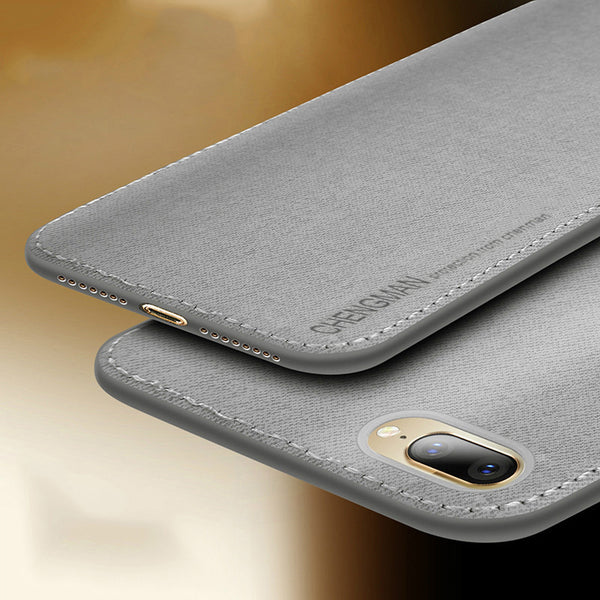Ultra Slim Business Fabric Cloth Soft Protect Case For iPhone