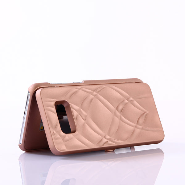 Phone Case - Lady Make up Card Slot Wallet Mirror Case Cover for Samsung Galaxy