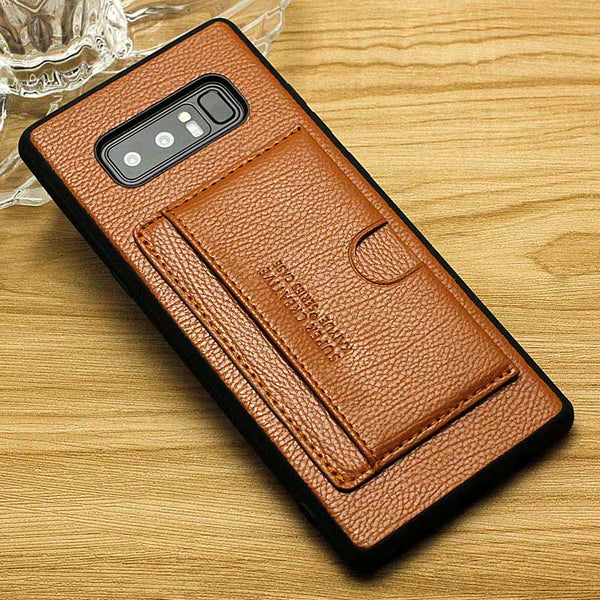 official photos 64af1 3c505 Wallet Credit Card Slot Case For Samsung Galaxy S8 S9+ Note 8 9