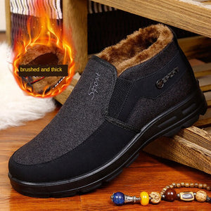 Kaaum Men Work Winter Cotton Shoes Warm Boots