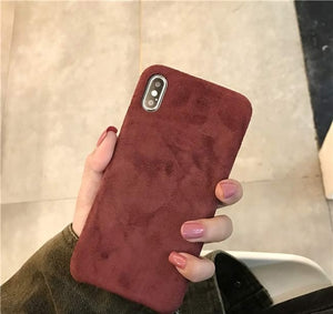 Phone Case - Luxury Ultra Thin Cloth Texture Soft TPU Protective Phone Case For iPhone XS/XR/XS Max 8/7 Plus