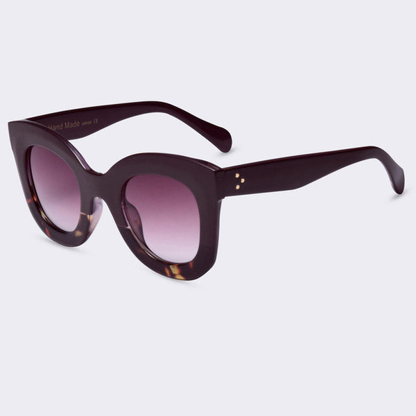 Big Frame Sunglasses : Sunglasses - Female Rivet Shades Big Frame Sunglasses Kaaum
