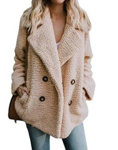 Women's Clothing - Winter Buttoned Casual Quilted Coat