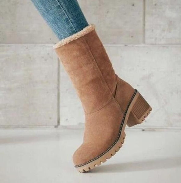 Shoes - Women's Warm Non-slip Waterproof Ankle Boots