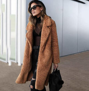 Women's Clothing - Women's Warm Winter Faux Fur Coat