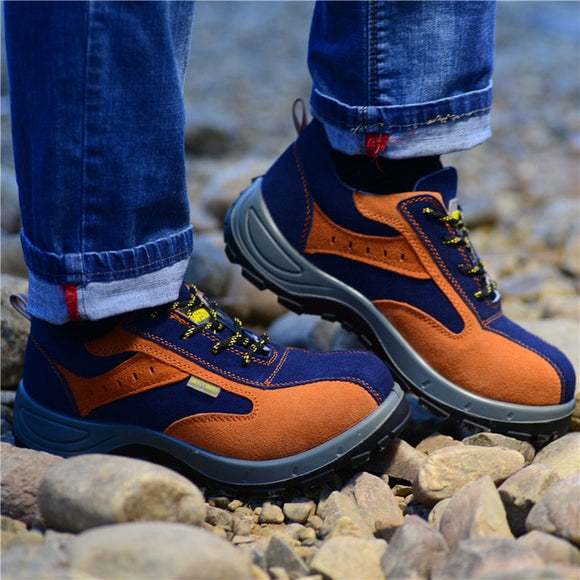 Men's Shoes - Safety Steel Toe Warm Breathable Men's Casual Boots