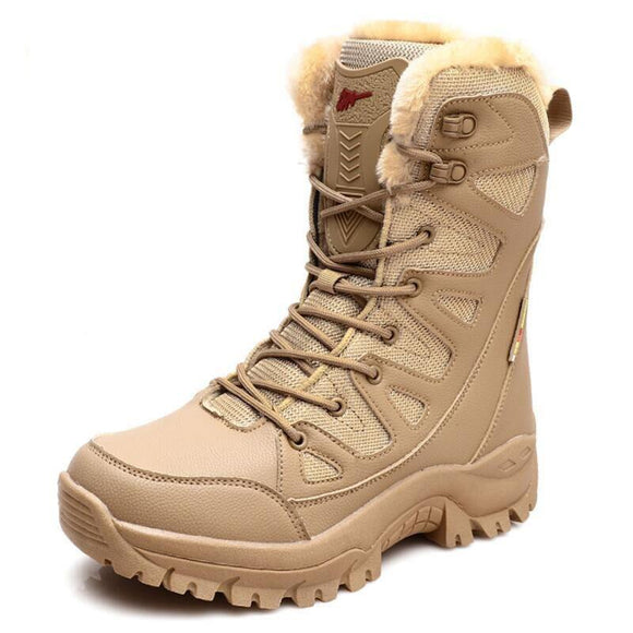 Kaaum Men's Military Waterproof Desert Outdoor Hiking Boots