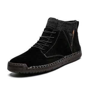 Kaaum High Quality Cow Suede Man Ankle Boots