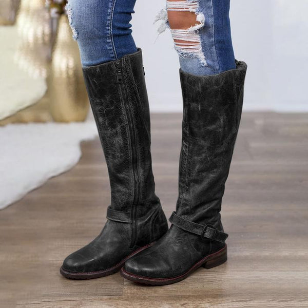 5f491eac27ef16 Women Artificial Leather Zipper Daily Vintage Boots – Kaaum