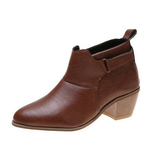 Kaaum Ladies Autumn Pointed Toe Ankle Boots