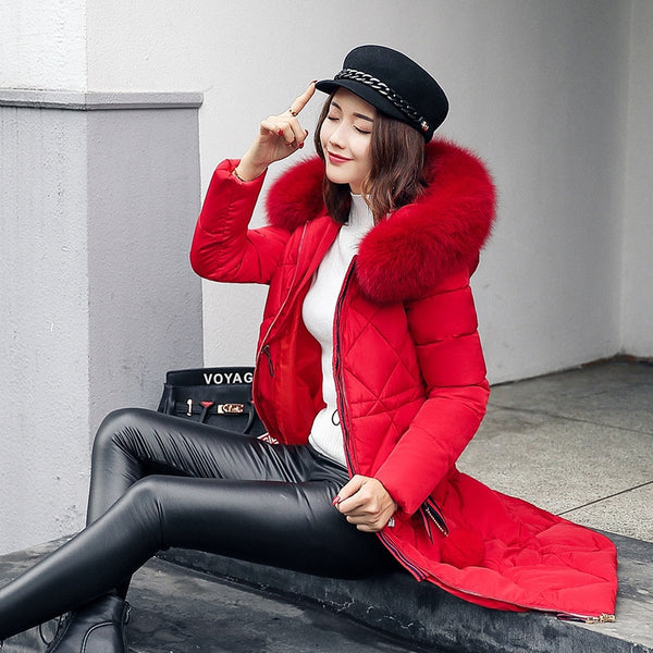 Women Big Fur Winter Coat