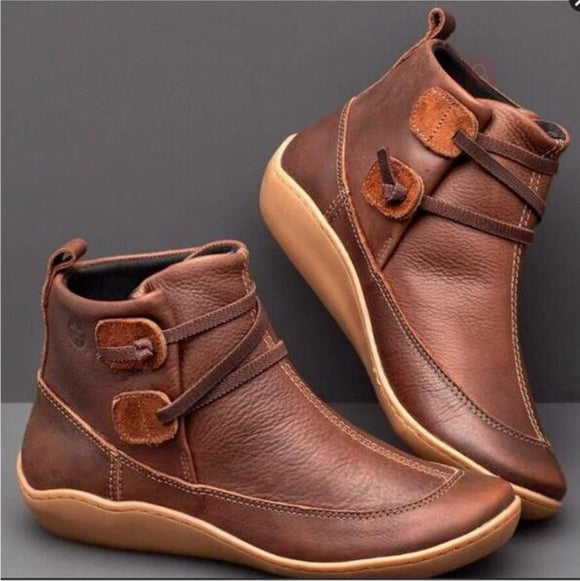 Shoes -  Ladies Comfortable Genuine leather Ankle Boots(Buy 2 Get 5% OFF, 3 Get 10% OFF)