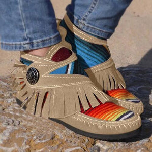 Kaaum Ladies Rainbow Tassel Ankle Boots