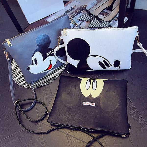Bag - Women Minnie Mickey Leather Messenger Bag