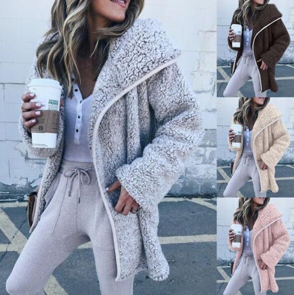 Women's Clothing - Women's Autumn Winter Warm Plush Jacket(Buy 2 Got 5% off, 3 Got 10% off Now)