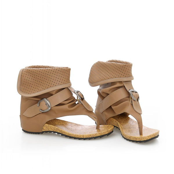 Sandals - 2018 Fashion Summer Hollow Ankle Boots Buckle Clip Toe Flat Sandals