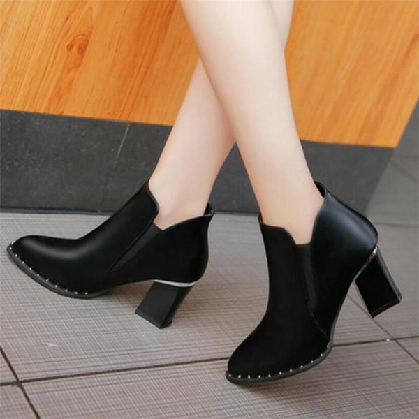 Women's Shoes - European Style British Rivet Martin Boots