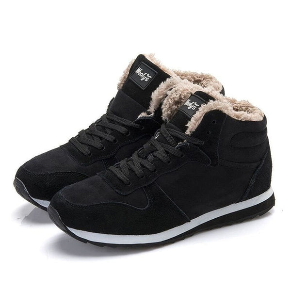 Keep Warm Casual Plus Size Fur Sneakers