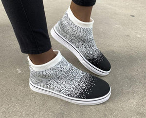 Invomall Ladies Casual Knitted Sneakers