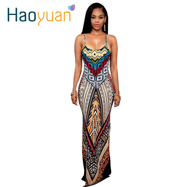 Women's Clothing - Backless Bandage Boho Split Bodycon Dress