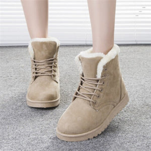 Lady's Classic Warm Fur Ankle Boots