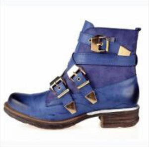 Women's Shoes - Women Fashion Vintage Leather Ankle Boots