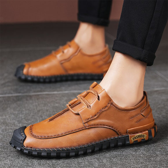 Genuine Leather  Big Size Men Casual Shoes