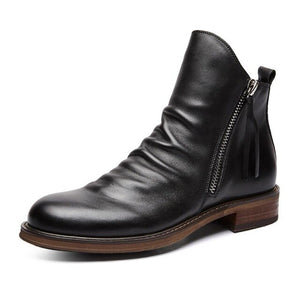 New Men Leather High-top Tassel British Style Ankle Boots(BUY 2 GET 10% OFF, 3 GET 15% OFF)