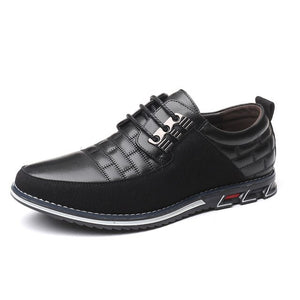 Men Autumn Casual Genuine Leather Lace-up Dress Shoes